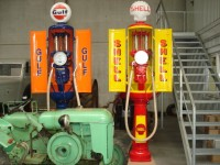 Gulf and Shell petrol pumps